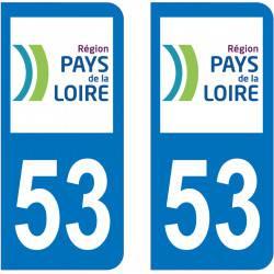 Autocollant Plaque 53 Mayenne