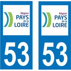 Sticker Plaque 53 Mayenne