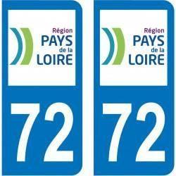 Autocollant Plaque 72 Sarthe
