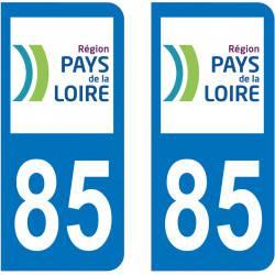 Autocollant Plaque 85 Vendée
