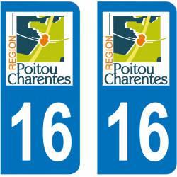 Autocollant Plaque 16 Charente
