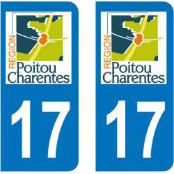 Autocollant Plaque 17 Charente Maritime
