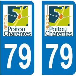 Autocollant Plaque 79 Deux Sèvres