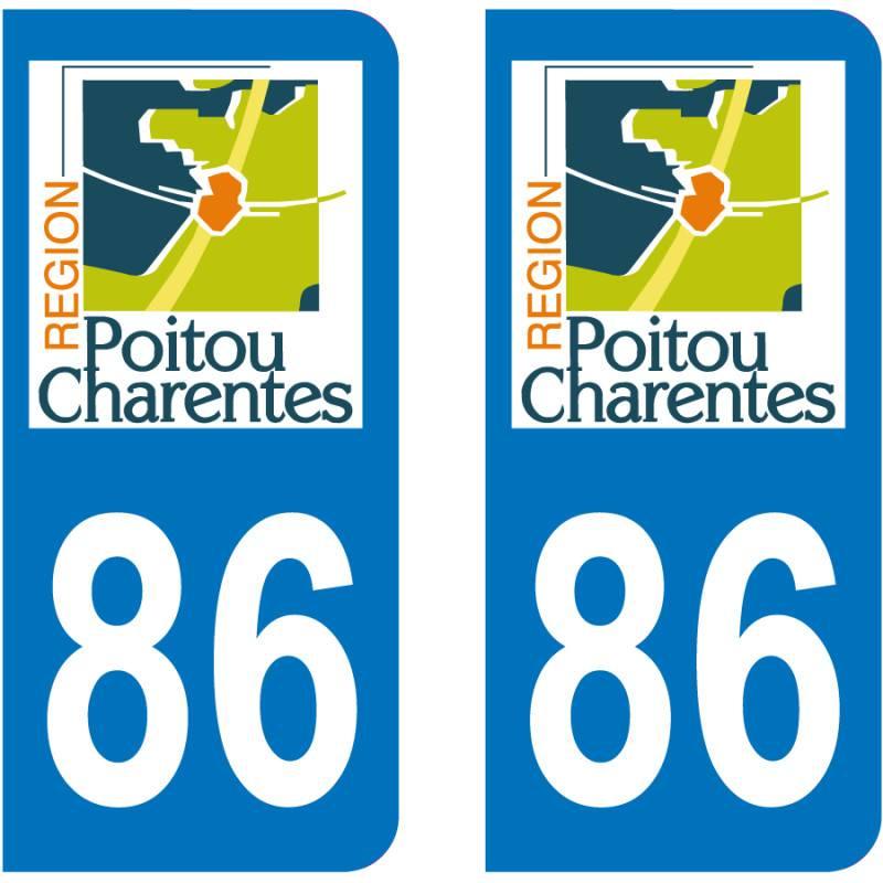 Indre et Loire Paire Sticker immatriculation 37