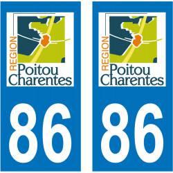 Sticker Plaque 86 Vienne