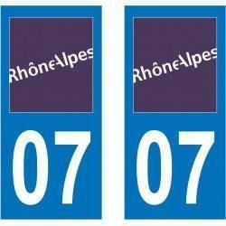 Sticker Plaque 07 Ardèche