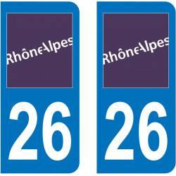Autocollant Plaque 26 Drôme