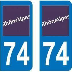 Autocollant Plaque 74 Haute-Savoie