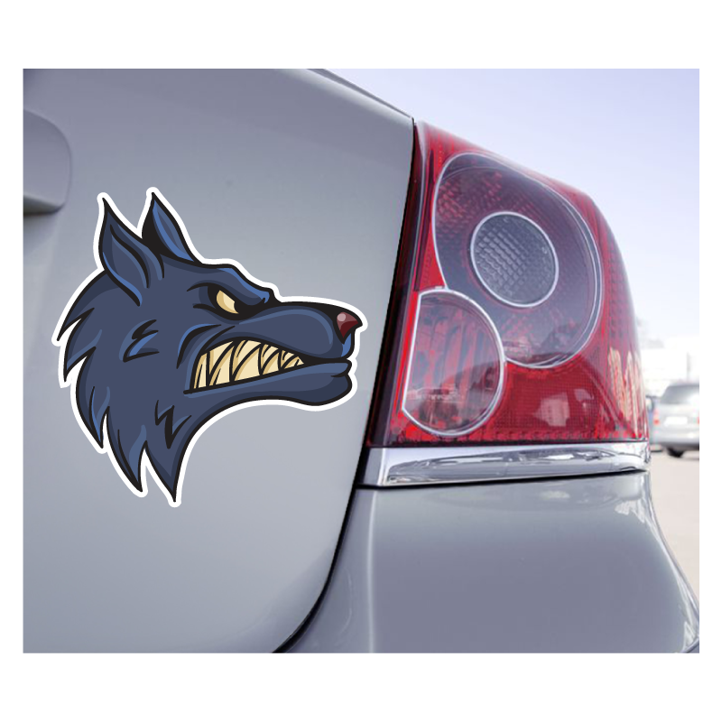Sticker Loup  Méchant - 1