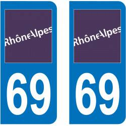 Autocollant Plaque 69 Rhône