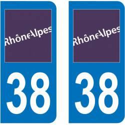 Autocollant Plaque 38 Isère