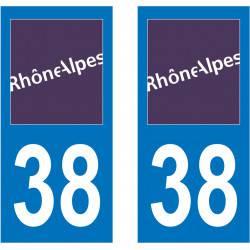 Sticker Plaque 38 Isère