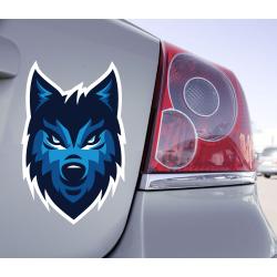 Sticker Loup  Bleu