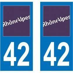 Sticker Plaque 42 Loire