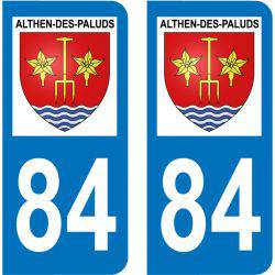 Sticker Plaque Althen-des-Paluds 84210