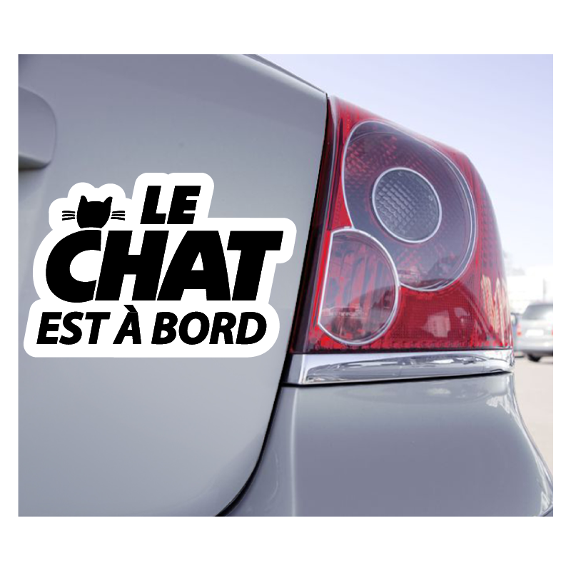 Sticker Le Chat Est à Bord - 1