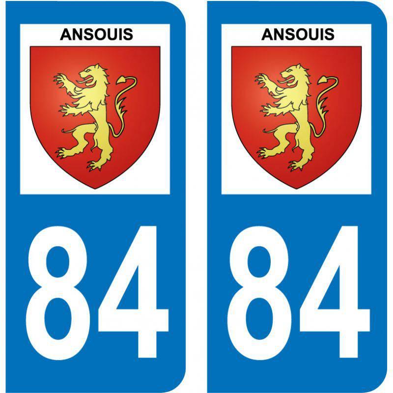 Sticker Plaque Ansouis 84240