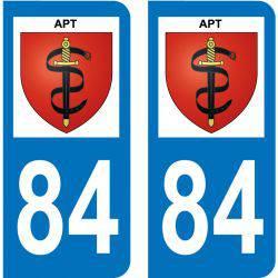 Sticker Plaque Apt 84400