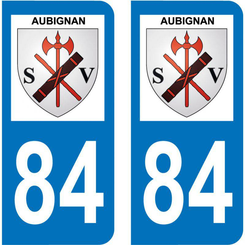 Sticker Plaque Aubignan 84810