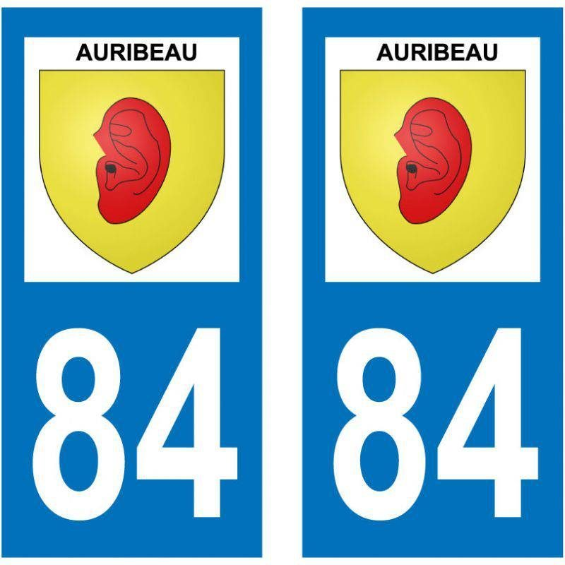 Sticker Plaque Auribeau 84400