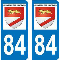 Sticker Plaque La Bastide-des-Jourdans 84240
