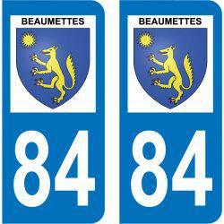 Sticker Plaque Beaumettes 84220