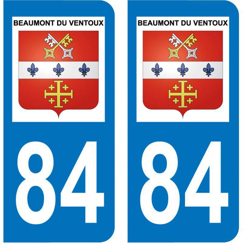 Sticker Plaque Beaumont-du-Ventoux 84340