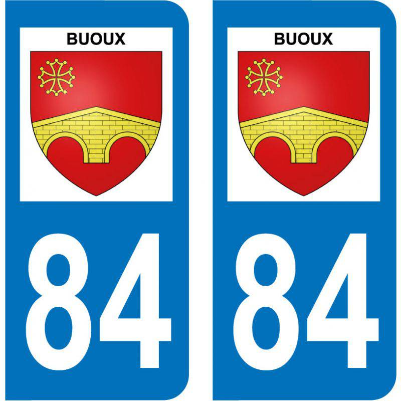 Sticker Plaque Buoux 84480