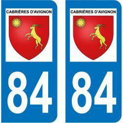 Sticker Plaque Cabrières-d'Avignon 84220