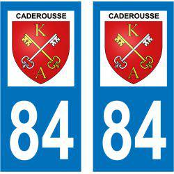 Sticker Plaque Caderousse 84860