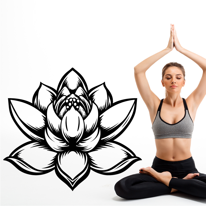 Autocollant Fleur De Lotus sacrée - 1