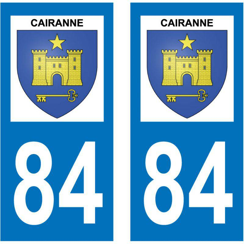 Sticker Plaque Cairanne 84290
