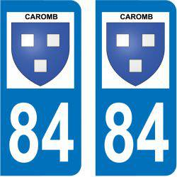 Sticker Plaque Caromb 84330