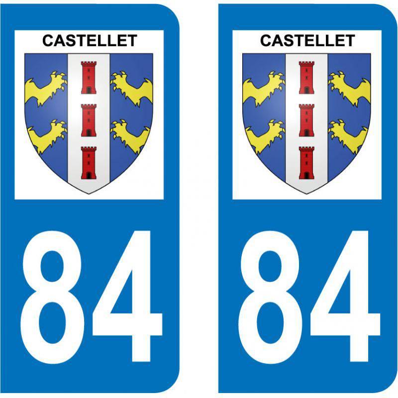 Sticker Plaque Castellet 84400