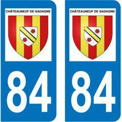 Sticker Plaque Châteauneuf-de-Gadagne 84470
