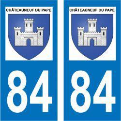 Sticker Plaque Châteauneuf-du-Pape 84230