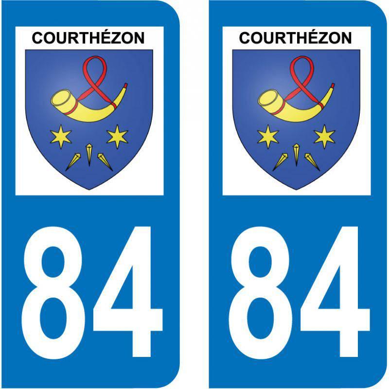 Sticker Plaque Courthézon 84350