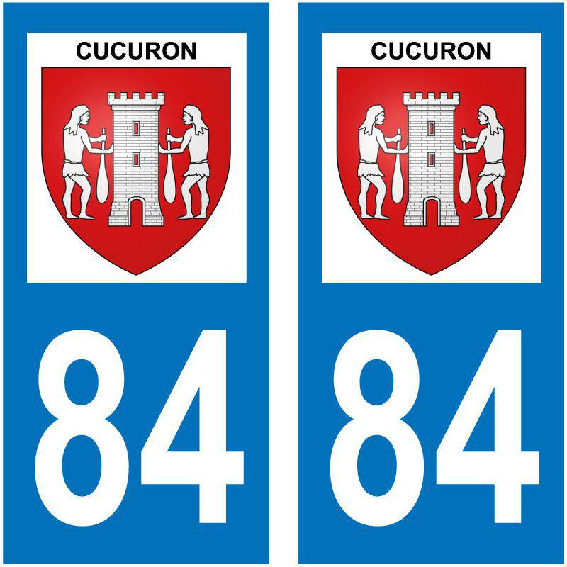 Sticker Plaque Cucuron 84160