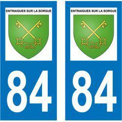 Sticker Plaque Entraigues-sur-la-Sorgue 84320