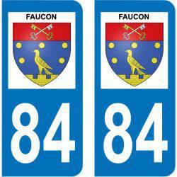 Sticker Plaque Faucon 84110