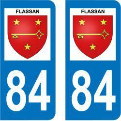 Sticker Plaque Flassan 84410