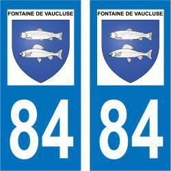 Sticker Plaque Fontaine-de-Vaucluse 84800