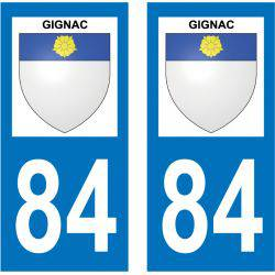 Sticker Plaque Gignac 84400