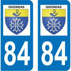 Sticker Plaque Gigondas 84190