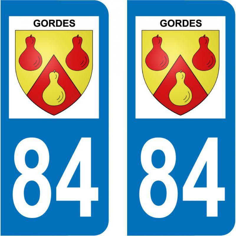 Sticker Plaque Gordes 84220