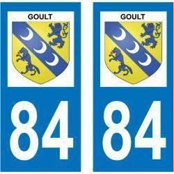 Sticker Plaque Goult 84220