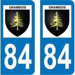 Sticker Plaque Grambois 84240