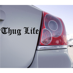 Sticker Lettrage Thug Life - 1