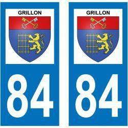 Sticker Plaque Grillon 84600