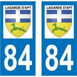 Sticker Plaque Lagarde-d'Apt 84400